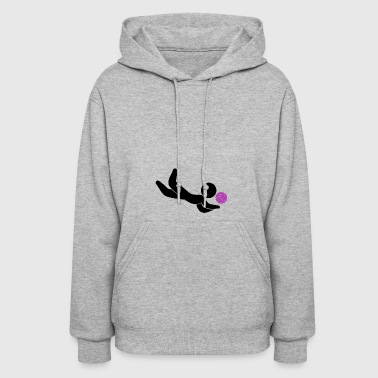A Volleyball Player Jumps For The Ball - Women's Hoodie