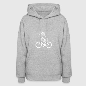 Dog on byclce shirt- Funny DOg On Bicycle tshirt - Women's Hoodie