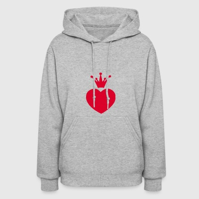 Heart With Crown - Women's Hoodie