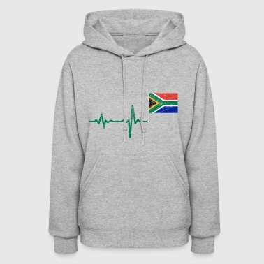 Heartbeat Southafrica flag gift - Women's Hoodie