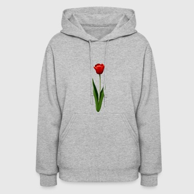 Red Tulip Illustration - Women's Hoodie