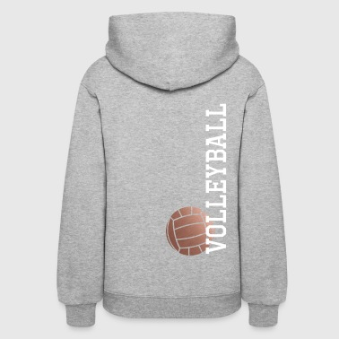 Vertical Rose Gold Volleyball - Women's Hoodie