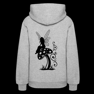 Little fairy on a mushroom. - Women's Hoodie