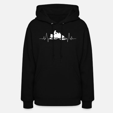 Heart Rate Snowmobile heart love heart rate - Women's Hoodie