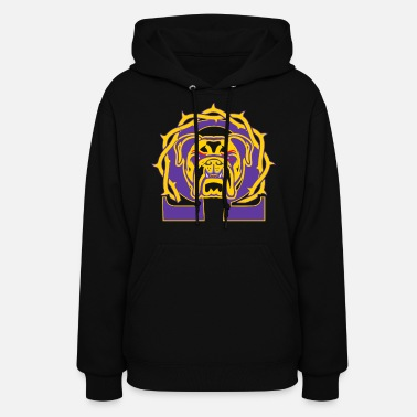 Omega Men's Omega Que Dawg Psi Phi Purple Gold Fraternity - Women's Hoodie
