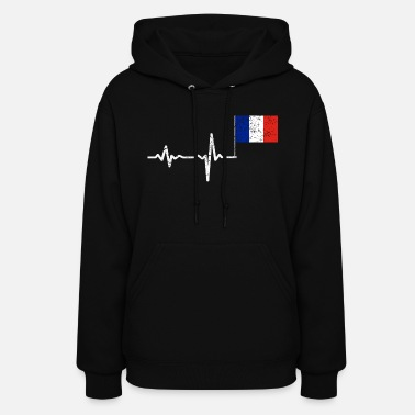 Marseille Heartbeat France french flag gift - Women's Hoodie