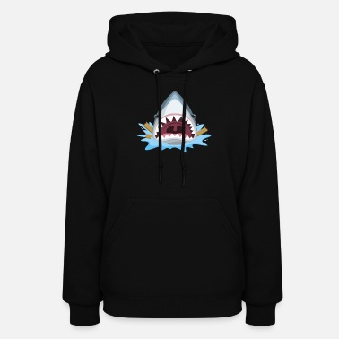 Gotcha Gotcha Funny Shark Lover design For The Week of the Shark & Beyond - Women's Hoodie
