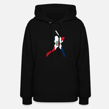 Dominican Republic Dominican Republic Baseball Flag TShirt - Women's Hoodie