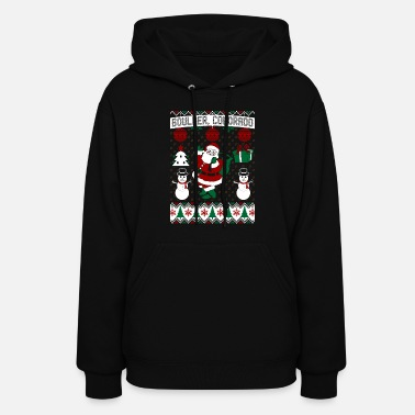 Bouldering Christmas Ugly Sweater Boulder Colorado - Women's Hoodie