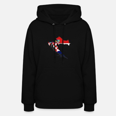 Usta flag Croatia map Hrvatska - Women's Hoodie
