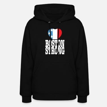 Boston Strong Usa Heart - Women's Hoodie
