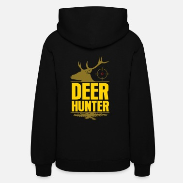 Deer Head Deer Hunter Hunting Stag Antler Deer Chase Forest - Women's Hoodie