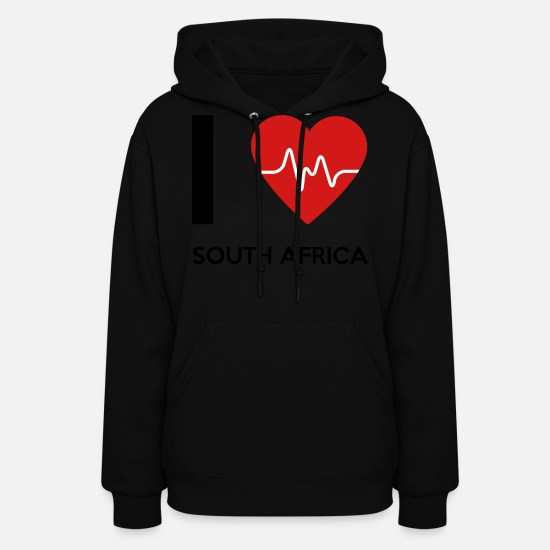 Love Hoodies & Sweatshirts - I Love South Africa - Women's Hoodie black