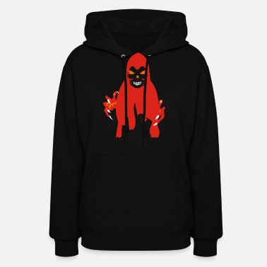Facet &amp Halloween Scary Face Ghost - Women's Hoodie