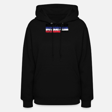 Montpellier Montpellier France Flag Tricolor Distressed French - Women's Hoodie