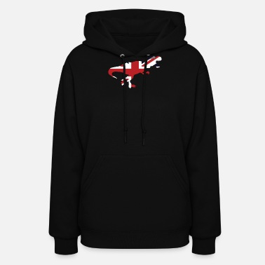 Union Jack Union Jack T-Rex Animal Flag Funny British Pride - Women's Hoodie