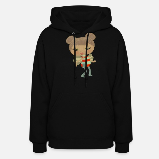 Amazing Hoodies & Sweatshirts - Cute and Strange Bee Girl - Women's Hoodie black