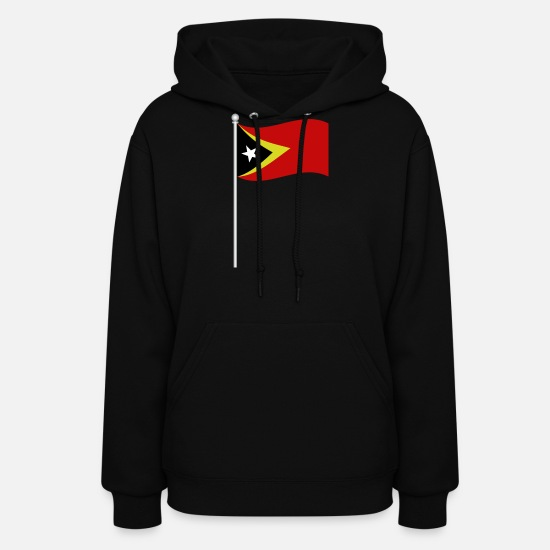 Easter Hoodies & Sweatshirts - flag of east timor - Women's Hoodie black