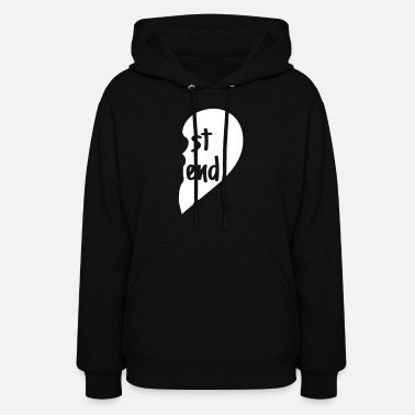 Best Friend heart right - Women's Hoodie