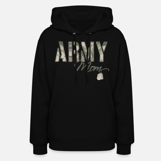 Son Hoodies & Sweatshirts - army_mom_camo_w_dog_tags - Women's Hoodie black