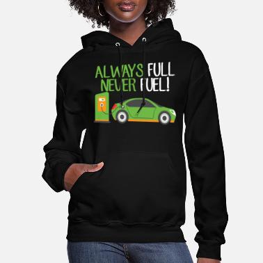 Vehicle Electric Vehicle EV Car Fuel Funny Gift - Women's Hoodie