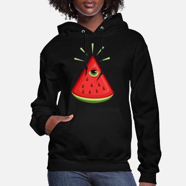 Illuminati Watermelon Unisex Crew Neck Sweatshirt