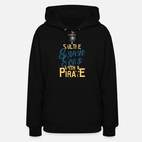Pirate Hoodies & Sweatshirts - Pirate, Pirate flag, Pirate ship - Women's Hoodie black
