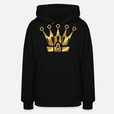 Golden Crown Golden Crown Gold Crowns Lifestyle King Queen Gift - Women's Hoodie