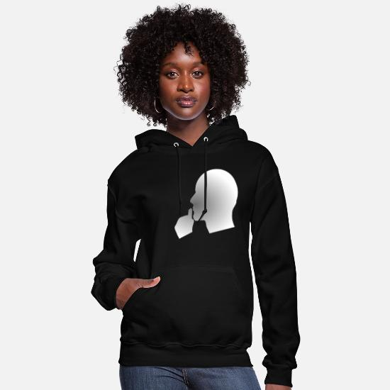 Think Hoodies & Sweatshirts - Deep thinking or reflecting - Women's Hoodie black