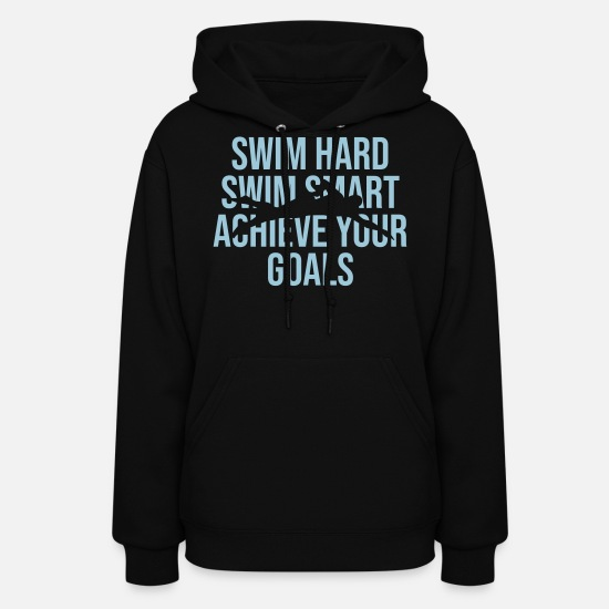 Team Hoodies & Sweatshirts - Swimmer. Swimming. Sports. Hobby. Coach. Team - Women's Hoodie black