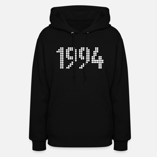 Year Of Birth Hoodies & Sweatshirts - 1994, Numbers, Year, Year Of Birth - Women's Hoodie black