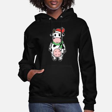 Cow Animal child cow Christmas winter gift - Women's Hoodie