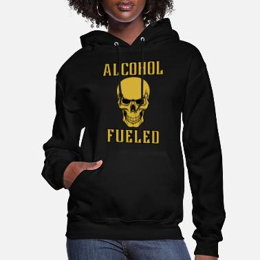 Yellow Stone Alcohol Fueled Skull Smiling - Women's Hoodie