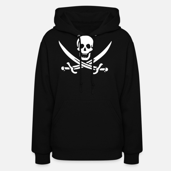 Jolly Roger Hoodies & Sweatshirts - Pirate Flag Jack Rackham - Women's Hoodie black