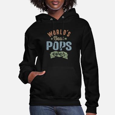 Father's Day World's Best Pops - Women's Hoodie