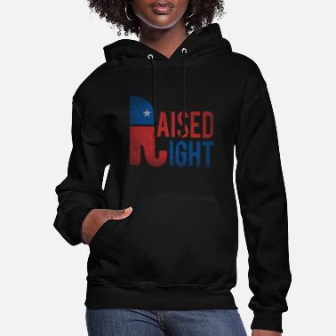 Vintage Raised Right Vintage Republican - Women's Hoodie