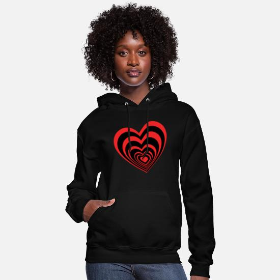 Love Hoodies & Sweatshirts - heart - Women's Hoodie black