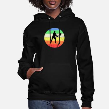 Tennis with colored circle background - Women's Hoodie
