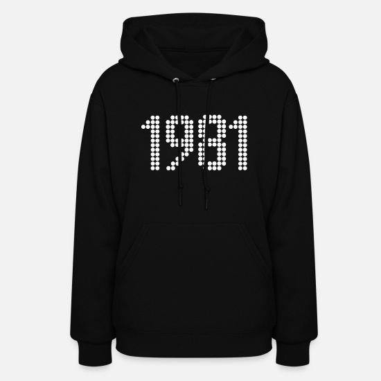 Year Of Birth Hoodies & Sweatshirts - 1981, Numbers, Year, Year Of Birth - Women's Hoodie black