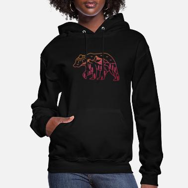 Travel The Adventurous Bear - Women's Hoodie
