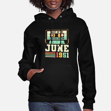 70th 70th Birthday June Gift Vintage 1951 70 Years - Women's Hoodie