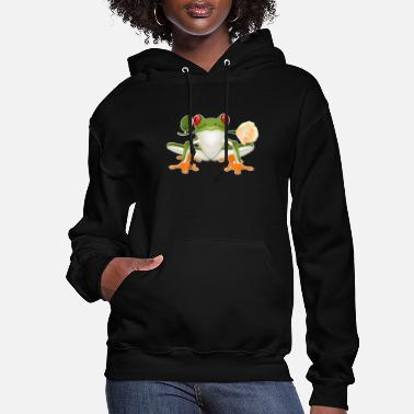 Frog red eyed tree frog shirt - Women's Hoodie