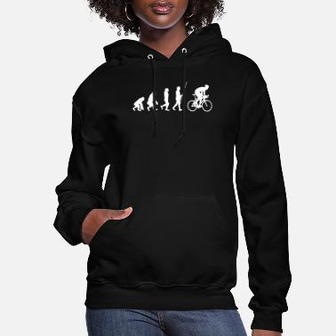 Giftidea For Cyclists Bicycle evolution - cyclist gift idea - Women's Hoodie