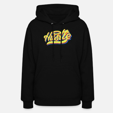 Blue Red Yellow Hustle yellow blue red - Women's Hoodie