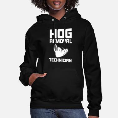 Hutning Hog Removal Technician Hunting Boar Pig - Women's Hoodie