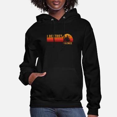 Noise I Destroy Silence Drum Set Drum Player Funny Drumm - Women's Hoodie