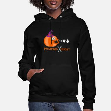 Ghosts pumpkin eating ghost - Women's Hoodie