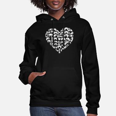 Game Heart Valentines Day Lover - Women's Hoodie