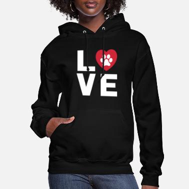 Prints Animal Lover Dog Paw Print Love Dogs My Best - Women's Hoodie