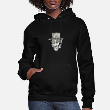 Drawing Man with Hat Drawing - Women's Hoodie